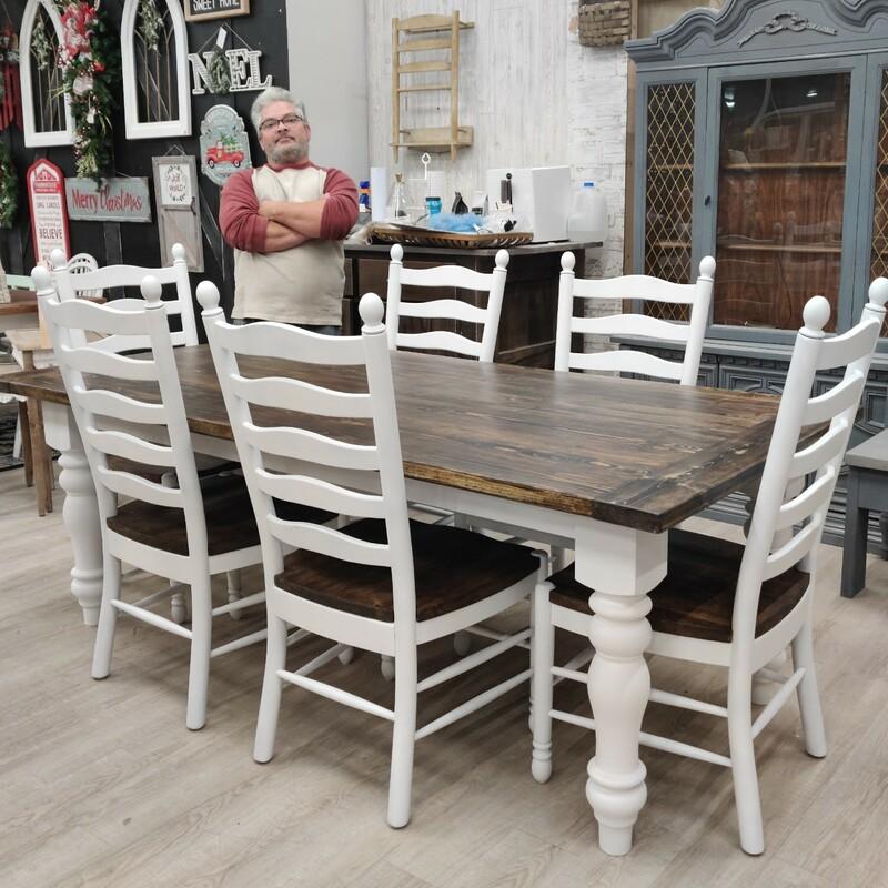 7ft Custom Farm Table