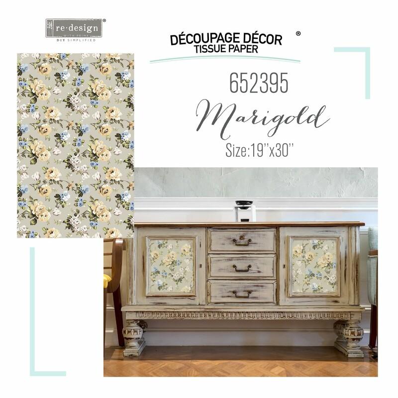 Marigold-Decoupage Paper