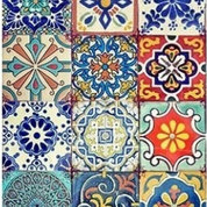 Colorful Tiles Rice Paper