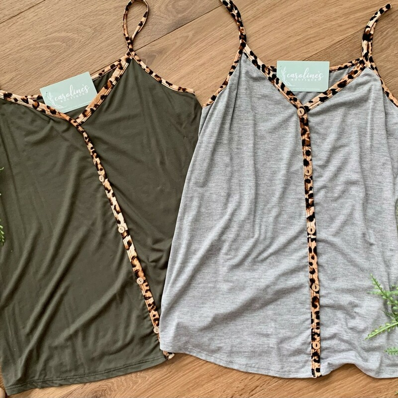 Olive Button Down Animal