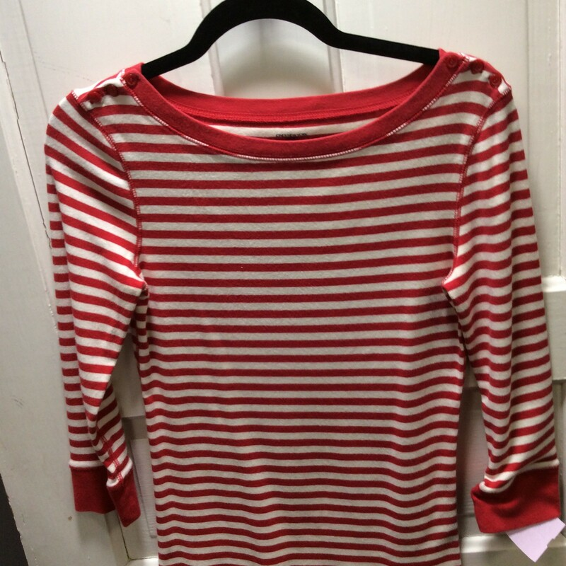 Jones NY 100% Cotton Stripe top, with little red shoulder buttons, Red and white...perfect for the upcoming holiday!!  Size: Small