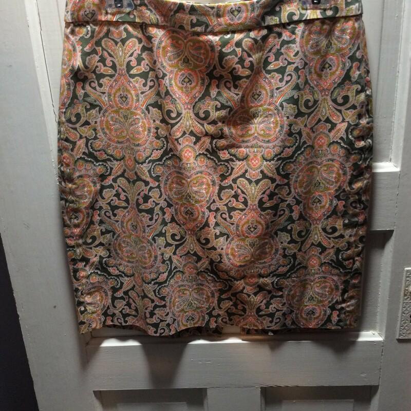 J Crew Pencil Print Skirt