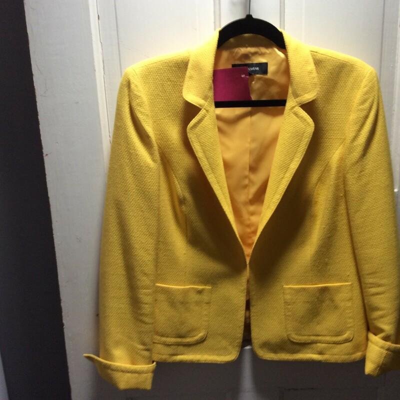 Jones NY, Yellow, with a texture! Size: 8 Sharp!!!