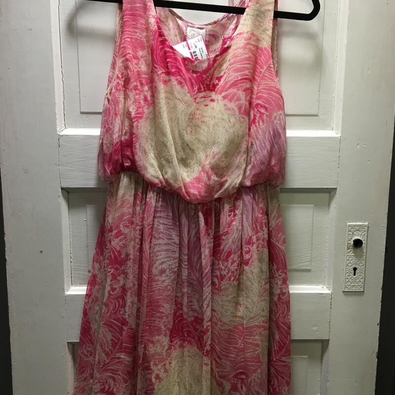 Post Stamp,  Sheer, Pink and tan, Size: 8 For a that something special!