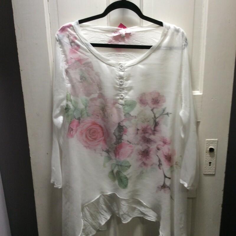 Pretty Angel, Floral Flowy, White, Size: Large So pretty!