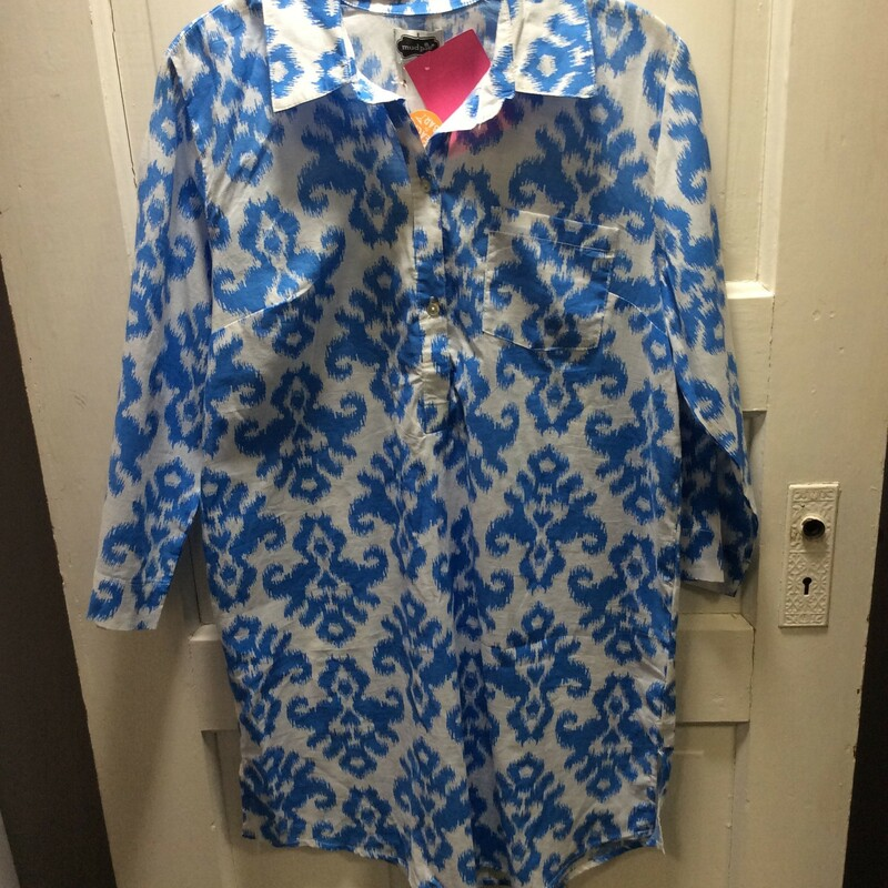 Mud Pie, Cover Up Or PJs, Blue and White, Size: Small New with Tags NWT!