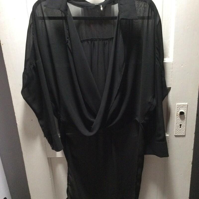 Elan High/low Sheer, Black, Size: Medium