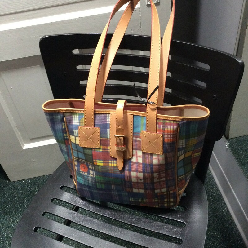 Dooney & Bourke, Patchwork plaid with picnic ant, so darn cute!! Almost new!  Size: 2 shoulder straps