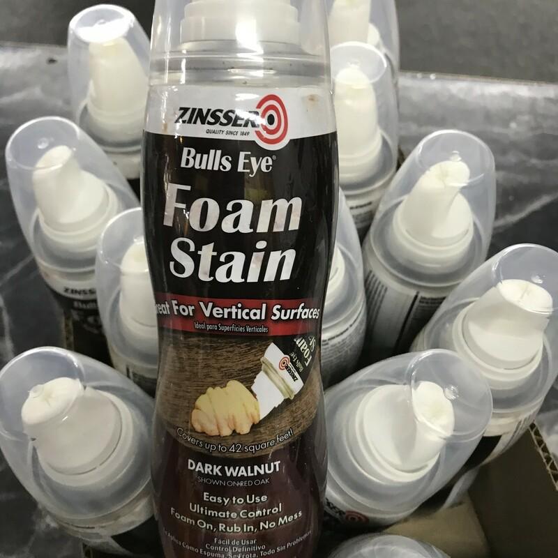 Foam Stain, Zinnser, Size: 9oz Dark Walnut