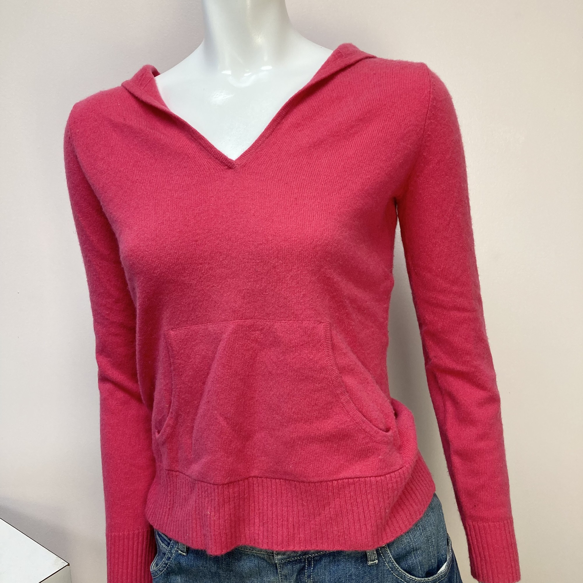 Evelyn Cashmere Hoody, Pink, Size: Xs
