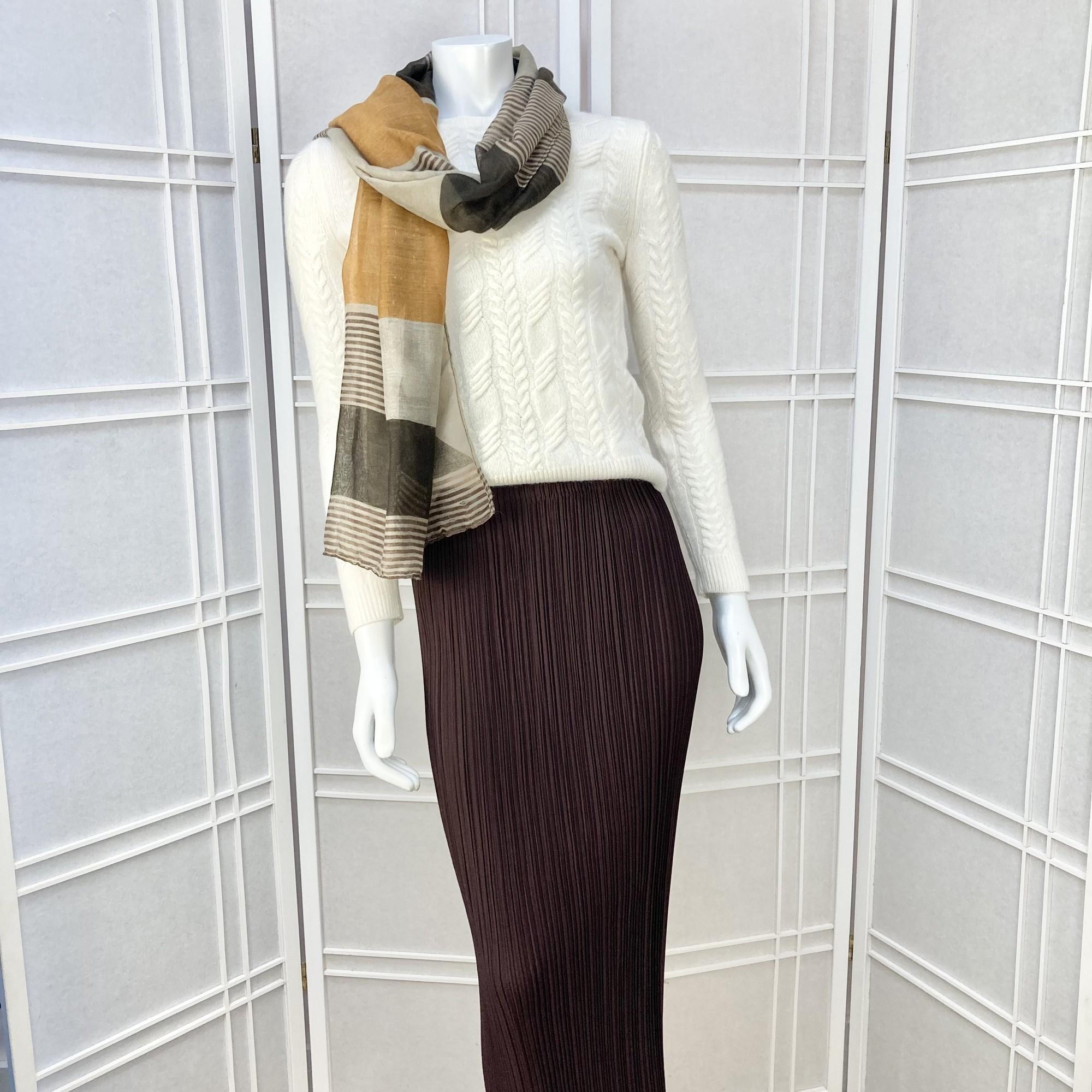 Lezley George London Skirt, Brown, Size: S