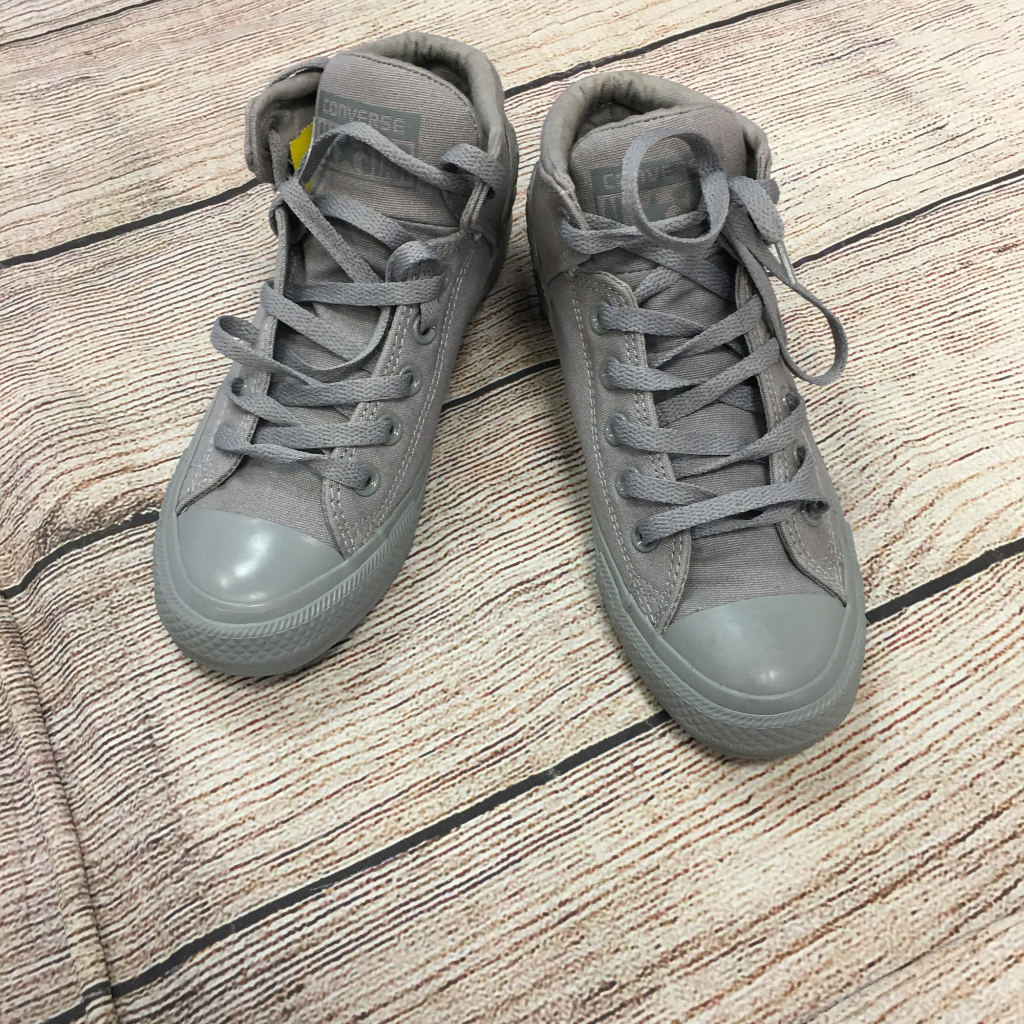 Converse High Tops Shoes, Grey, Size: 7