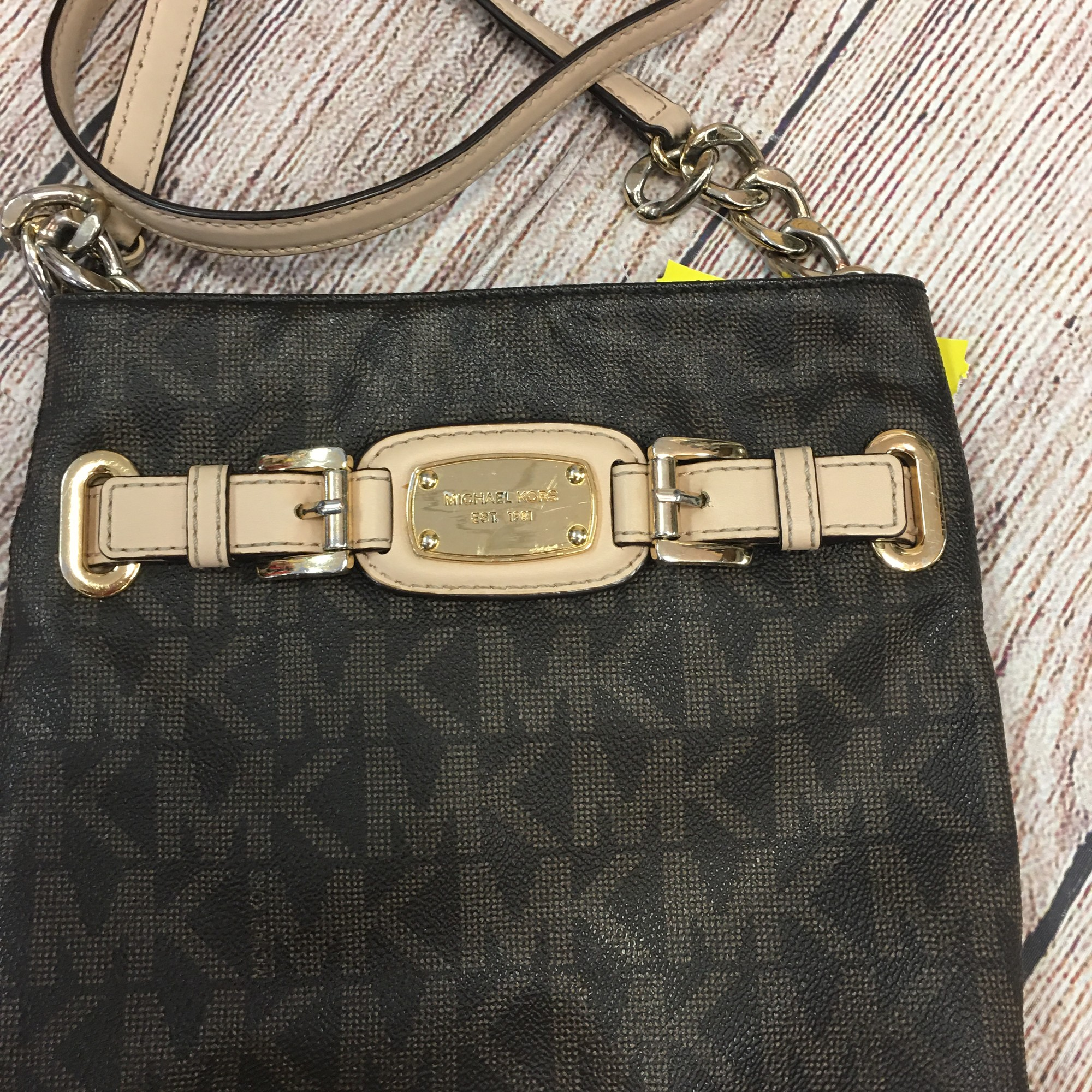 Mk Crossbody Purse AS IS, Brown, Size: None