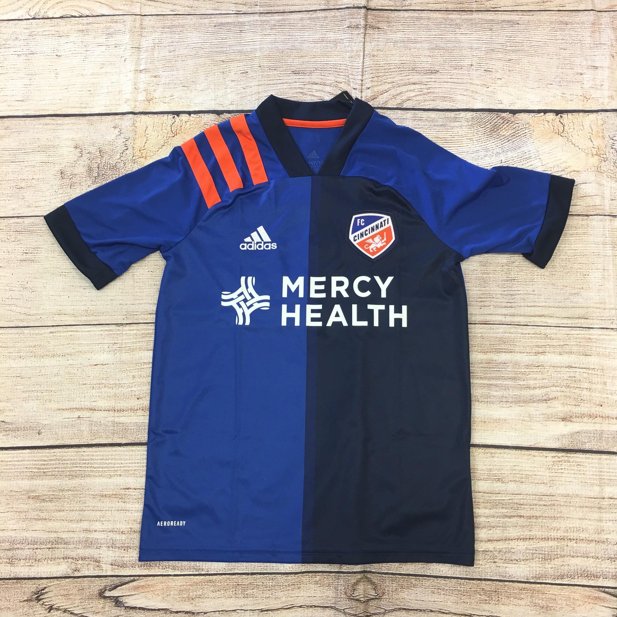 F C  Cincinnati Shirt, Blue, Size: Large kids