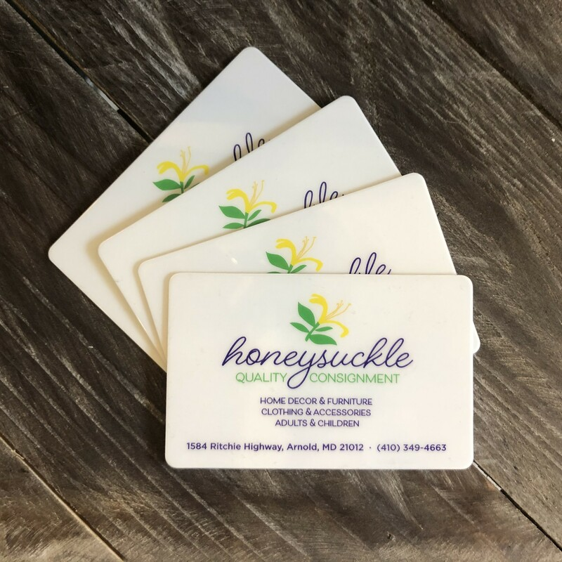 Available in any denomination...............just purchase in multiples and we will provide one gift card.  ***Item will be mailed to shipping address provided***