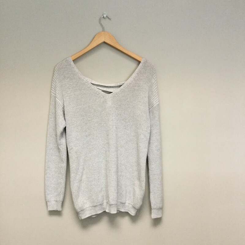 Fate Lace Up Back Sweater