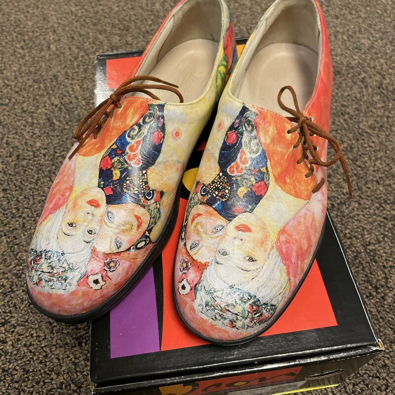 Painted Tie Shoes