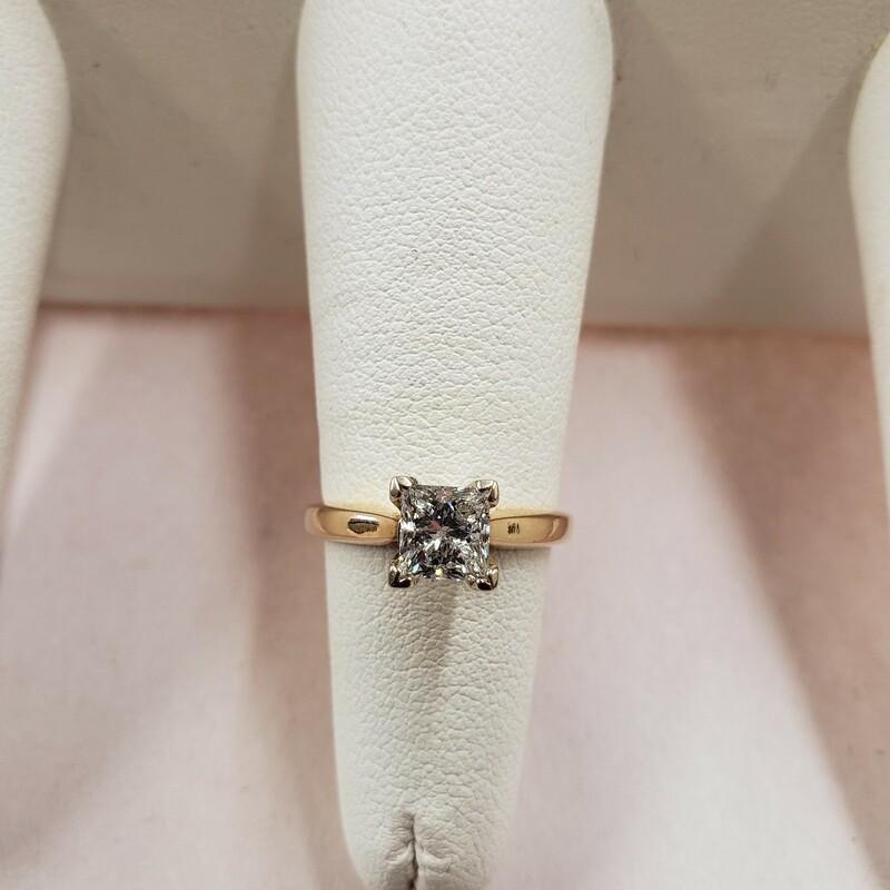 1.01ct Princess H/SI Ring