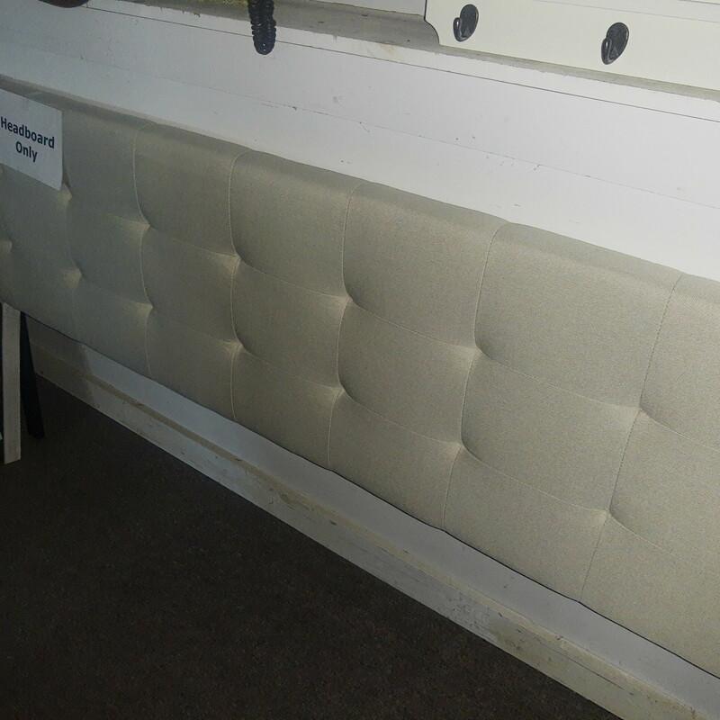 King Cream Upholstered headboard only