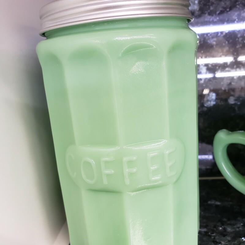 Jadeite Coffee Jar