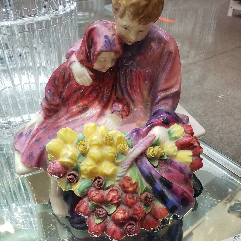 Flower Seller Doulton Please call or email for specific dimensions etc. Return are generally not allowed on consignment items. Any returns authorized are subject to a 20 % restocking fee!
