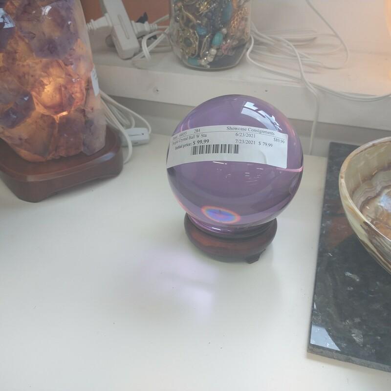 Purple Crystal Ball W Sta, None, Size: None