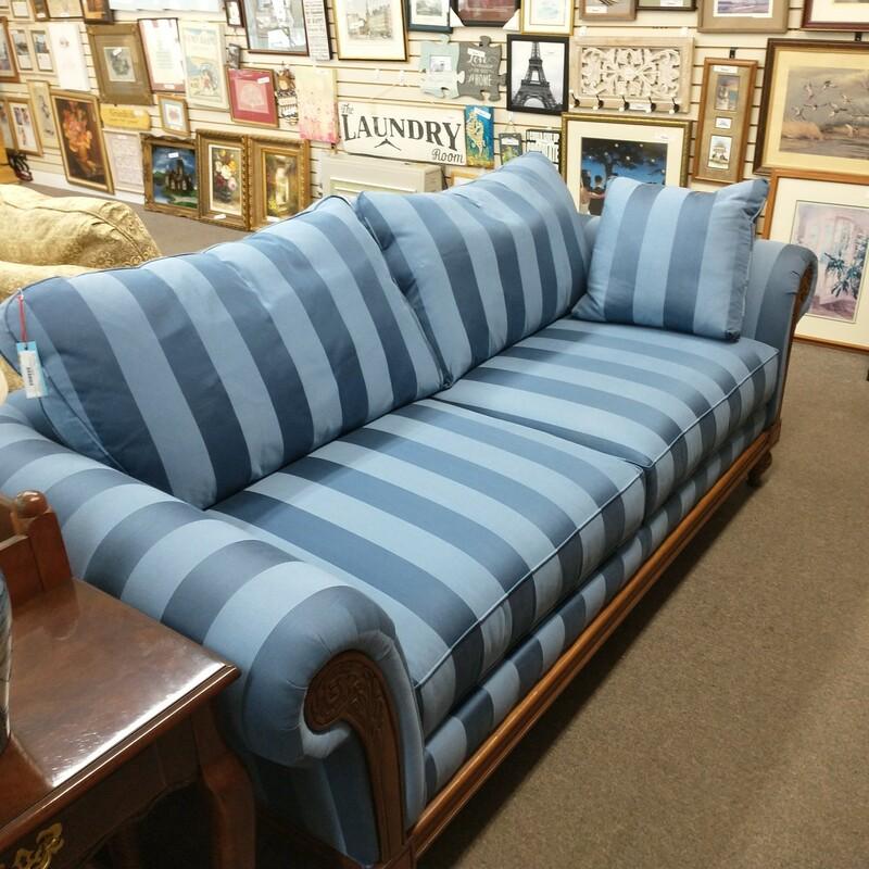 Blue Stripe Sofa