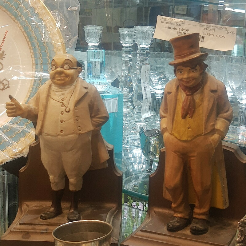 Pair of Dickens Book Ends