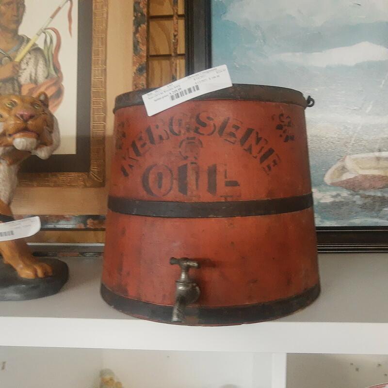 Kero Oil Can Wooden Antiq