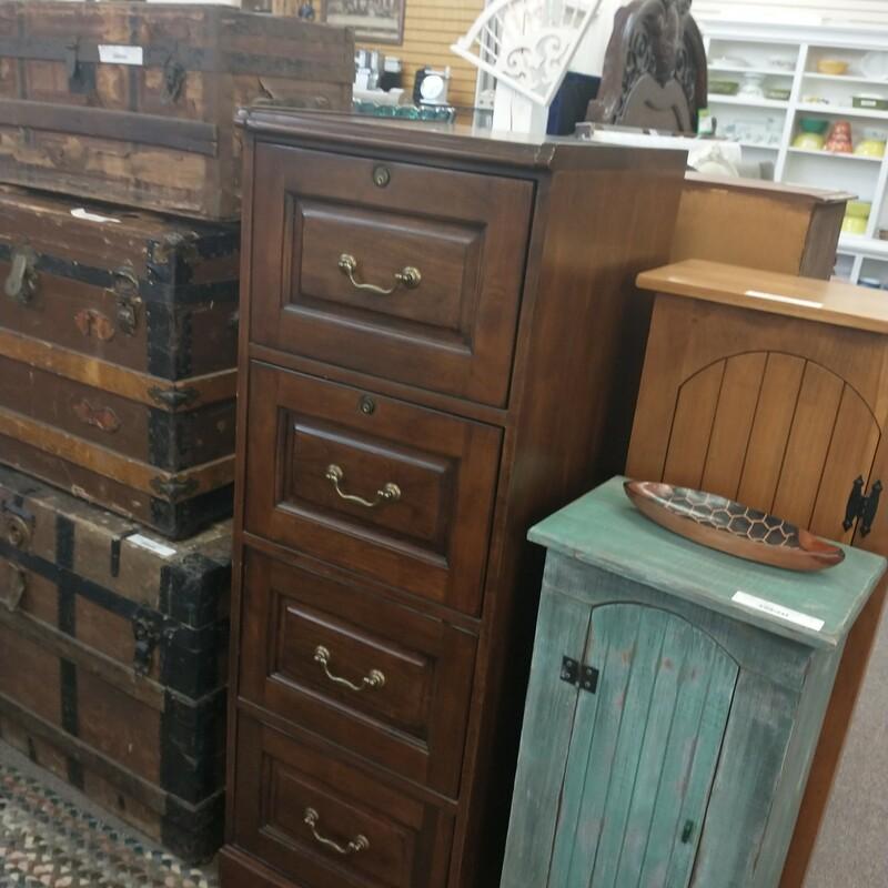 4 Draw Wood File Cabinet