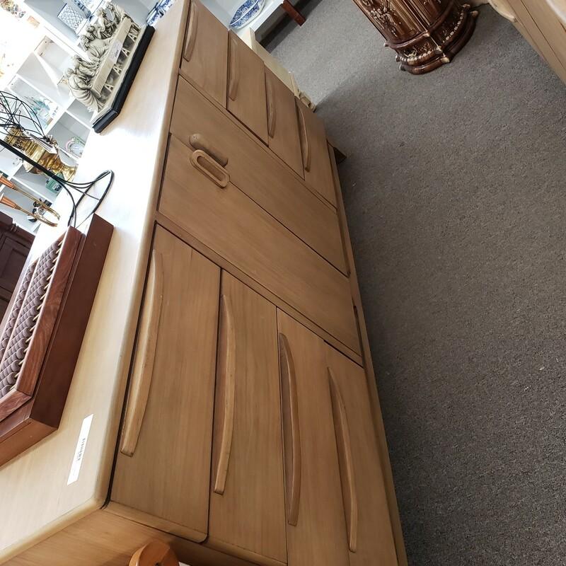 Large Tan Wood Console