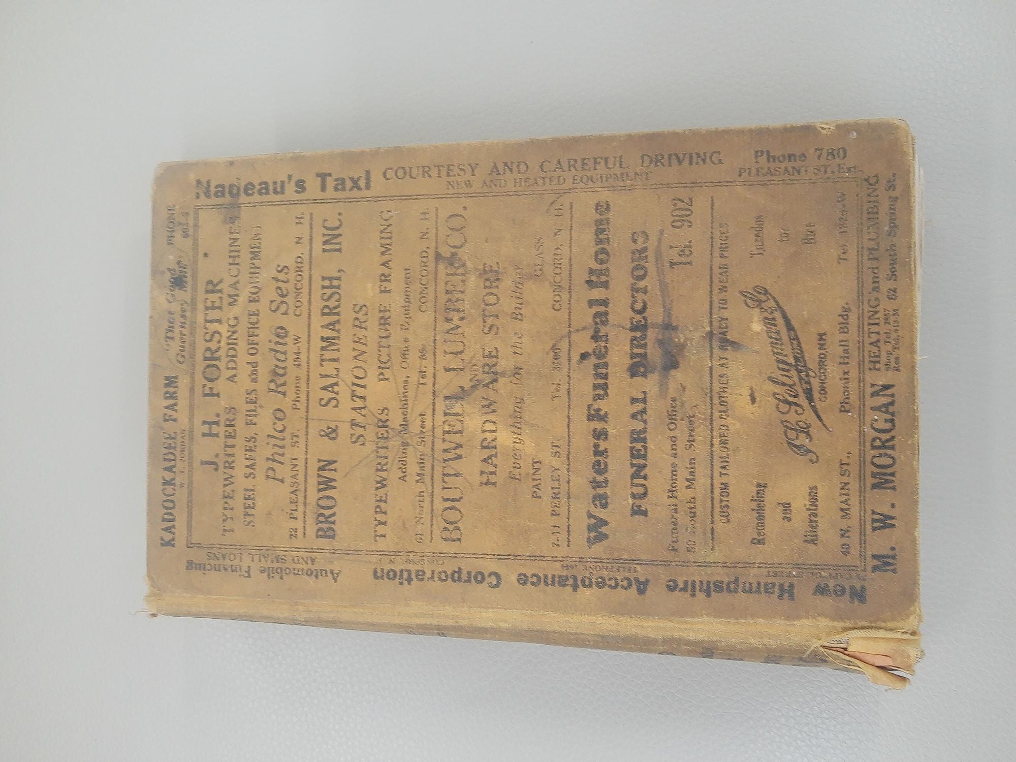 1936 Concord Directory Hopkinton too!