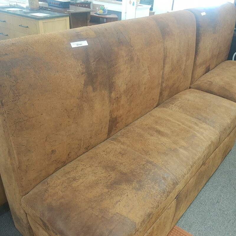 Restoration Hardware rough hide leather bench or sofa seat. Great for dining table!