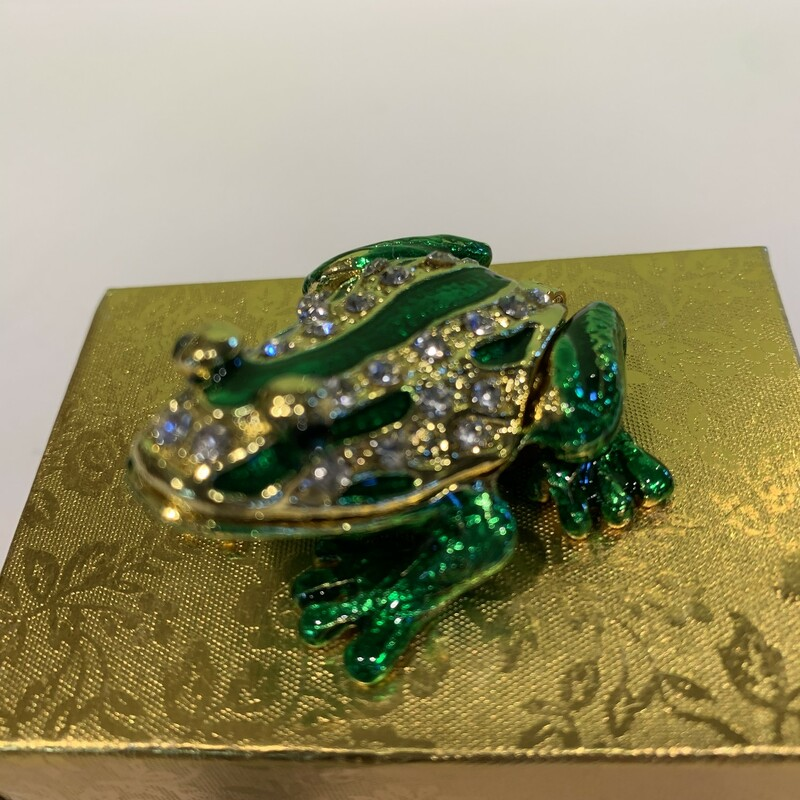 Hinged Jeweled Frog