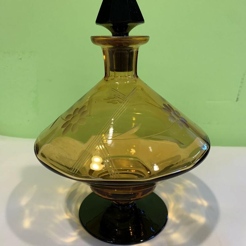 "Amber-black Perfume Bottl, Bl/amb, Size: 8.5\"""