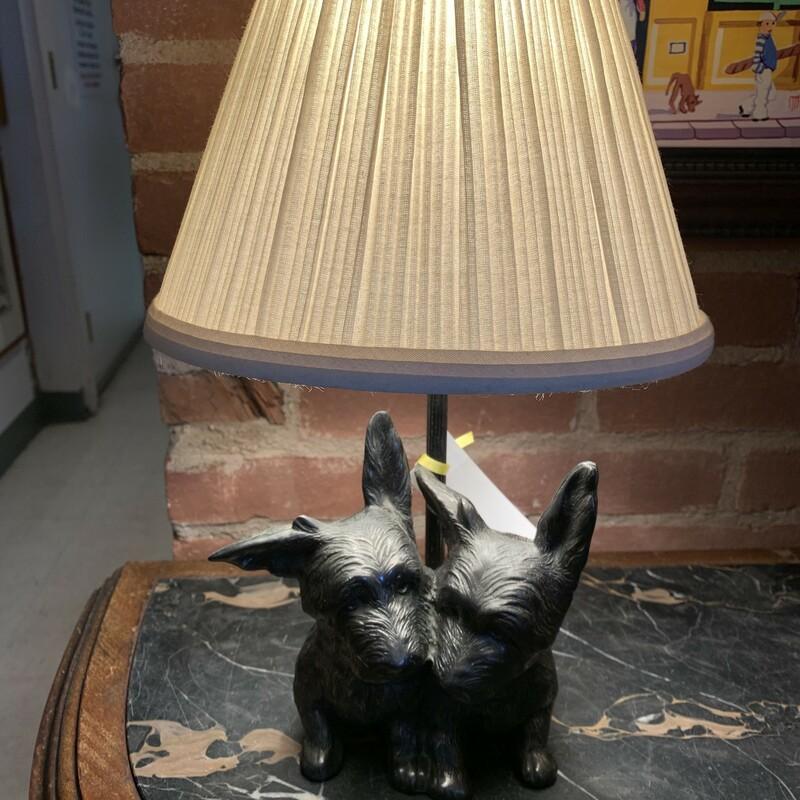 Metal Scottie Lamp