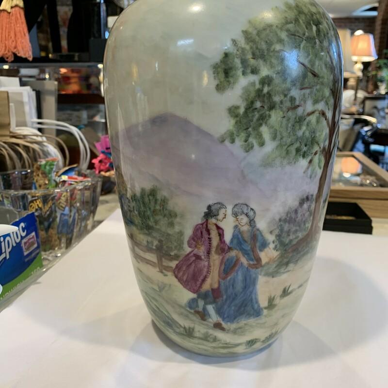 Dresden HP Signed Vase