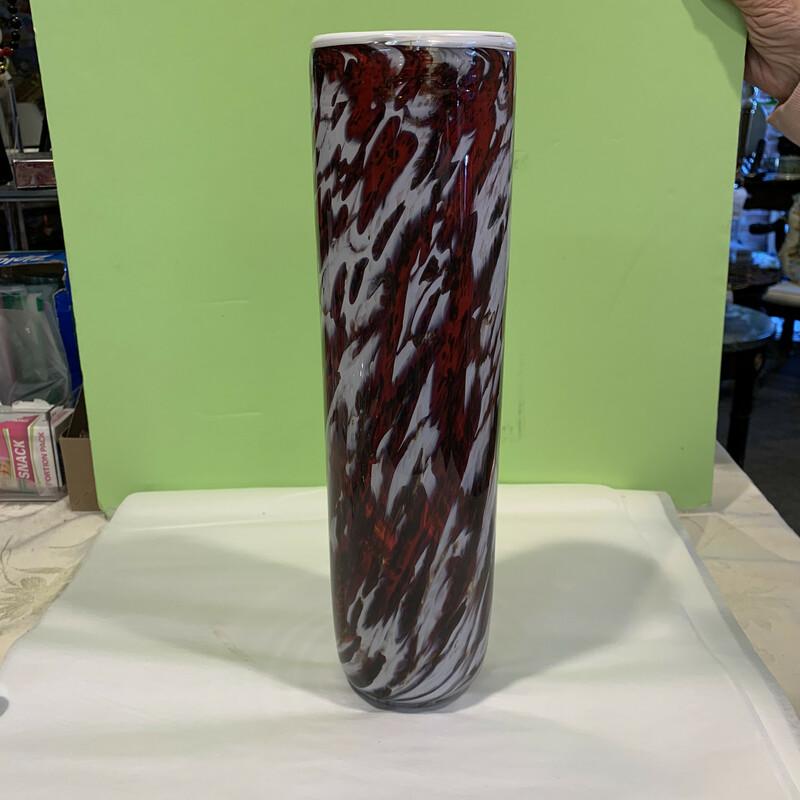 Hand Blown Striped Vase