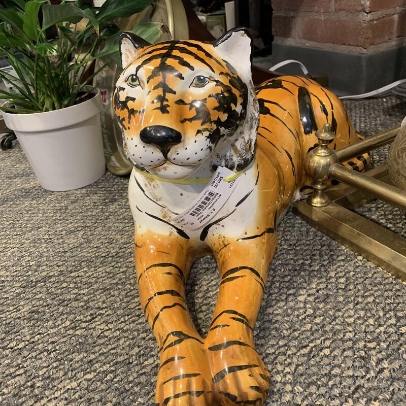 """Bellini Ceramic Tiger, None, Size: 22\"""""""