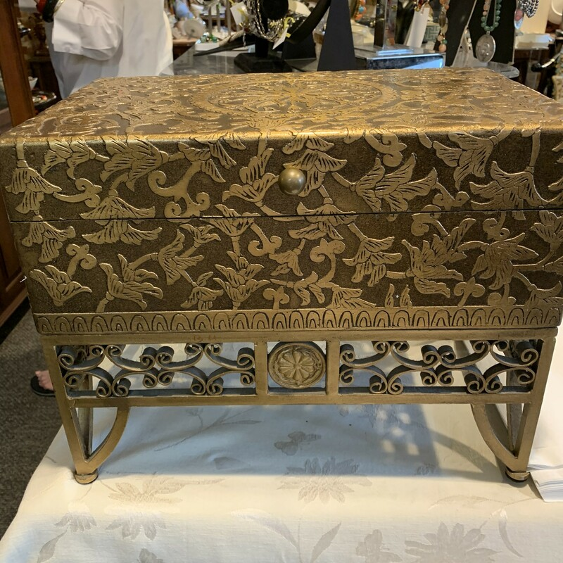 Carved Wood/Iron Chest