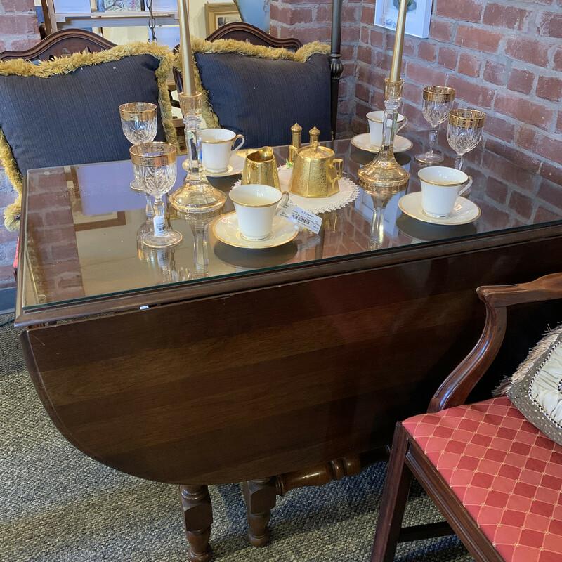Gateleg Table W/4 Chairs