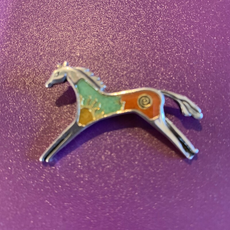 Pollack Sterl Horse Pin