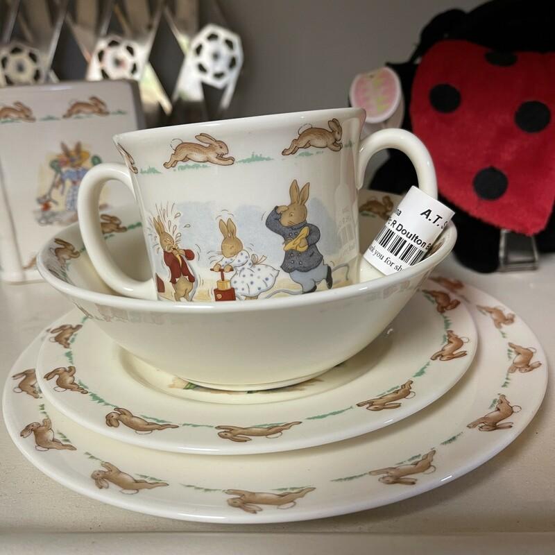 3-pc R Doulton Bunny Set, Multi, Size: None