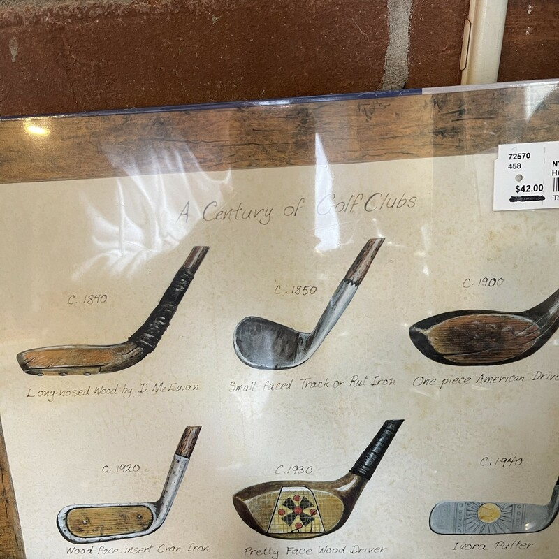 Hist. Of Golf Placemats