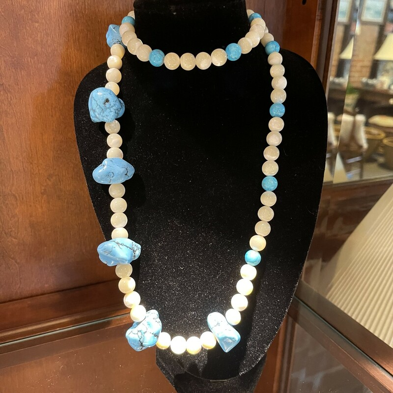 Turq & MOP Necklace