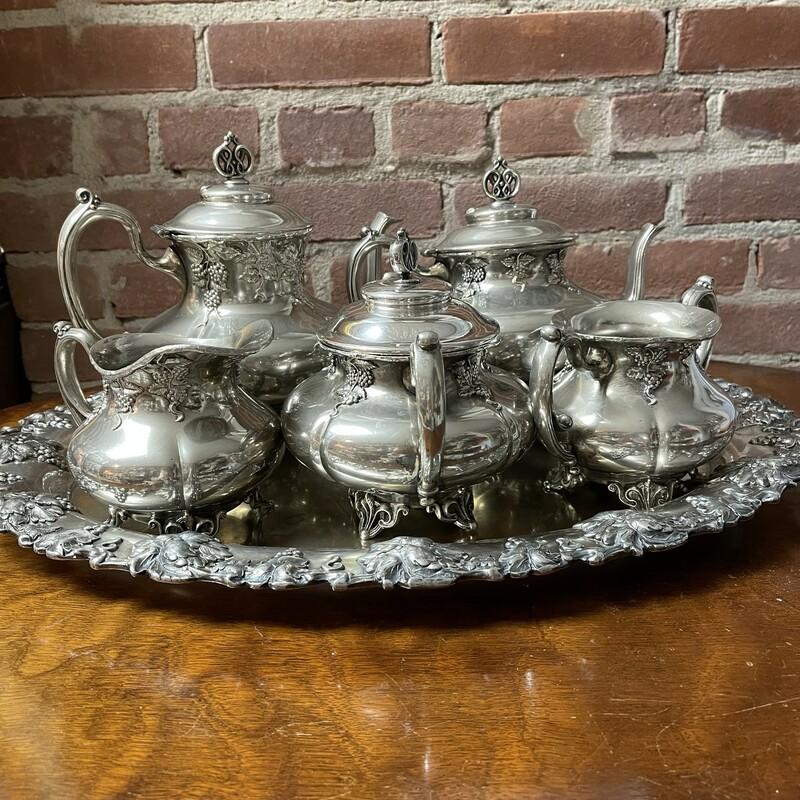 6pc Antique S/P Tea Set