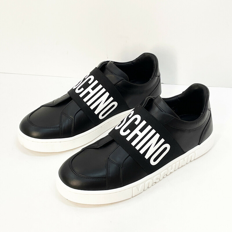 Moschino  Logo Sneaker, Size 37, $199.99