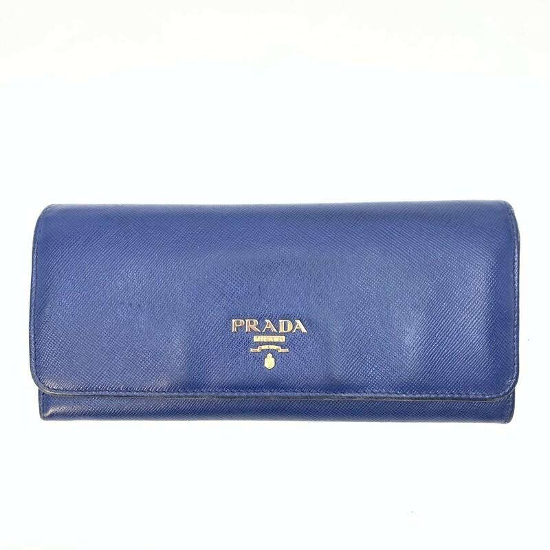 Prada Blue Saffiano Flap