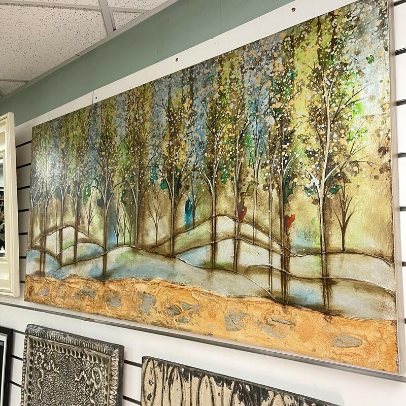Embellished Forest Print