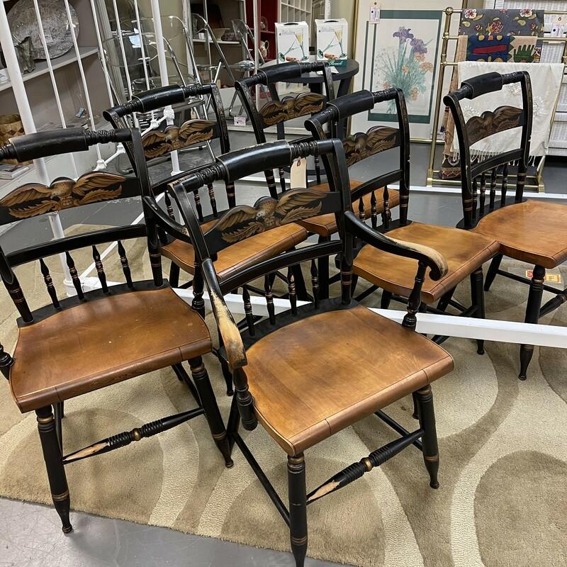 Set 6 Hitchcock Chairs